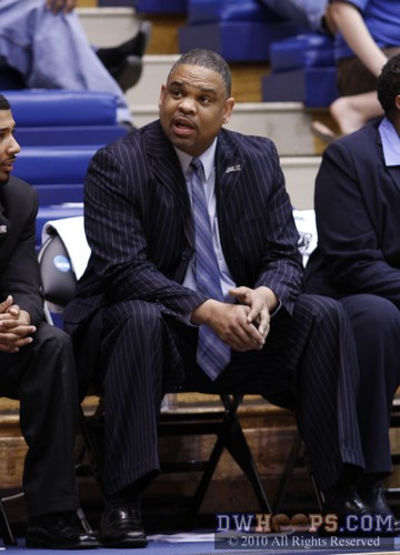 Hampton coach David Six leads the Pirates back into Cameron four years after Duke defeated them 72-37 in an NCAA first round matchup.