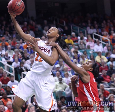 Virginia's Monica Wright