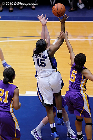 Richa Jackson fouled on the arm by Ebone Henry.  - Duke Tags: #15 Richa Jackson