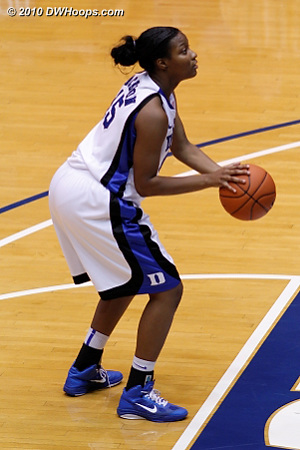 Richa Jackson on the free throw line.  - Duke Tags: #15 Richa Jackson