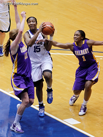 Richa Jackson fouled again going to the hoop.  - Duke Tags: #15 Richa Jackson