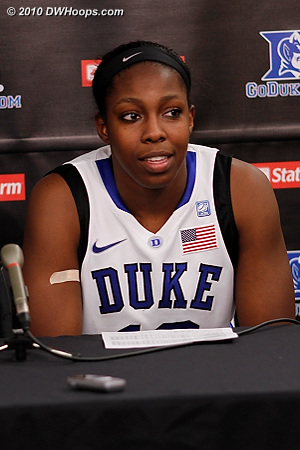 Chelsea Gray in the media room after a 15 point and 5 steal outing vs. Albany.