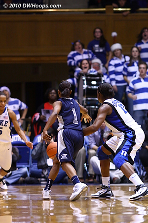 Karima Christmas pokes the ball away from Special Jennings with 3 seconds left and the game tied.