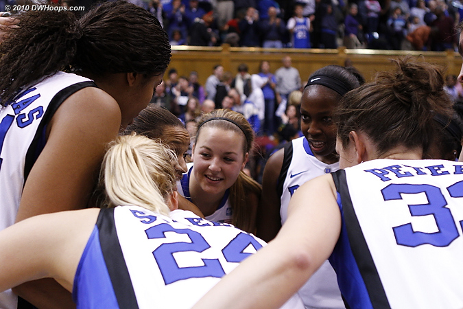The Duke Post-Game Huddle.