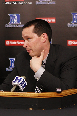 Xavier Coach Kevin McGuff in the media room, he took questions but understandably had no opening statement.