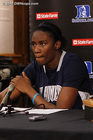 Amber Harris in the media room - it was a pleasure to watch her play, her offensive moves were second to none.