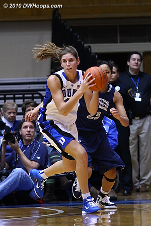 Allison Vernerey had a nose for the ball tonight; this was the first of her five steals.  - Duke Tags: #43 Allison Vernerey