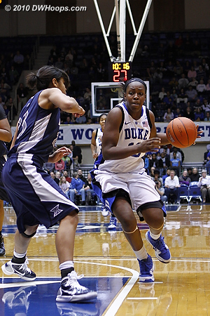 Chelsea drives after a steal  - Duke Tags: #12 Chelsea Gray