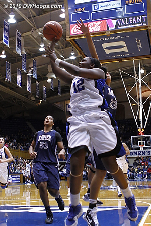 Chelsea unable to convert the layup  - Duke Tags: #12 Chelsea Gray