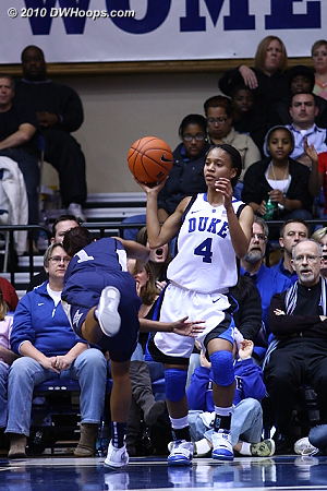 Chloe Wells gets a steal (uncredited) with 1.5 seconds left in the half.  - Duke Tags: #4 Chloe Wells