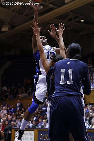 After Liston kept the Duke possession alive with her own board, Karima cuts the deficit to three.