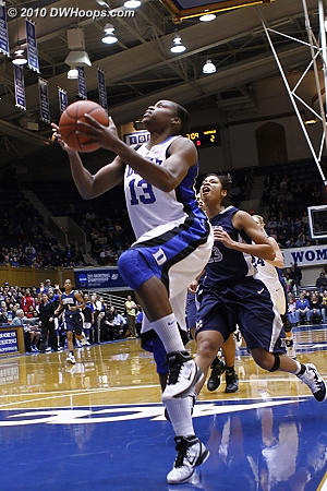 Karima's fast break layup made it a 5-2 Duke lead.  - Duke Tags: #13 Karima Christmas