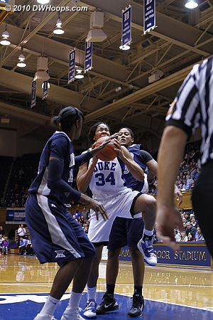 Krystal ties the game at 40 with a driving layup, but Duke would not score in the next six minutes.  - Duke Tags: #34 Krystal Thomas