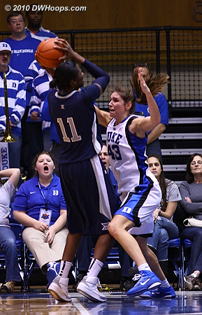 Tough D from Vernerey helped to slow Harris' scoring pace  - Duke Tags: #43 Allison Vernerey