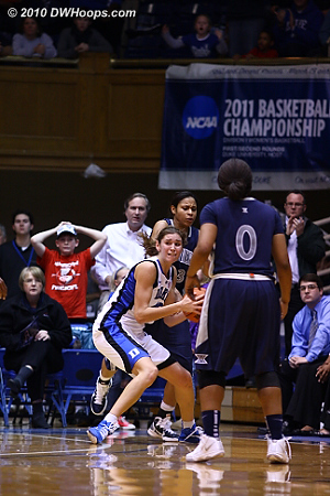 A key steal for Vernerey gives Duke the ball with 56 ticks left, down by one.  - Duke Tags: #43 Allison Vernerey
