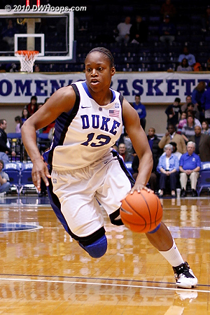 Karima Christmas was Duke's star against Temple, with half of her 20 points coming from the line.  - Duke Tags: #13 Karima Christmas