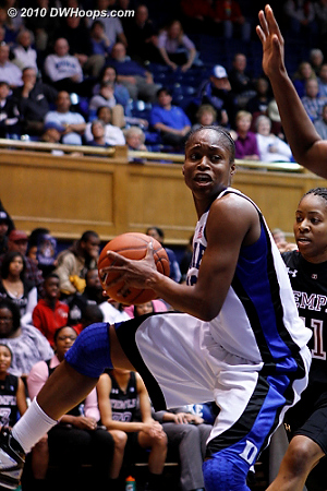 Karima Christmas grabs an offensive board  - Duke Tags: #13 Karima Christmas