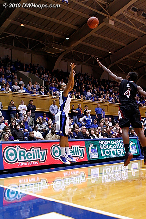 Shay Selby was 3-3 from long range in the second half.  - Duke Tags: #3 Shay Selby