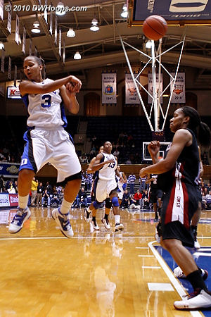 An amazing no-look pass by Shay Selby set up Kathleen Scheer under the basket.  - Duke Tags: #3 Shay Selby