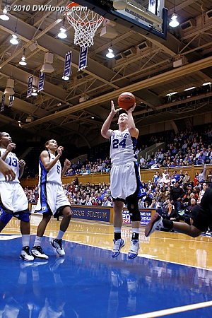 Scheer handled the no-look pass from Selby perfectly for the fast break layup and Duke's biggest lead (65-50).  - Duke Tags: #24 Kathleen Scheer