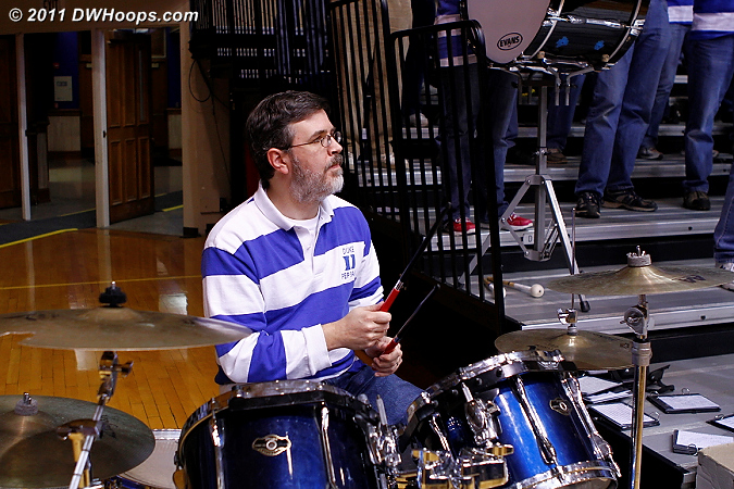 Mark Hill on the drums for the Duke Alumni Pep Band  - Duke Tags: Duke Pep Band
