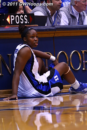 Chelsea Gray came off the bench just before the 16 minute time out.  - Duke Tags: #12 Chelsea Gray
