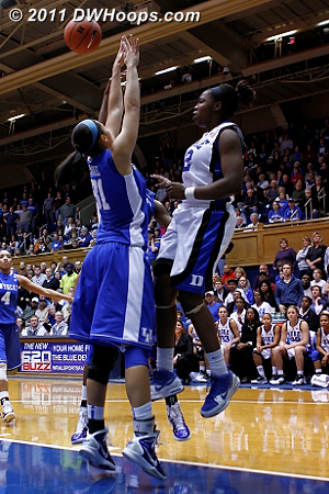 A tipped Chelsea Gray shot magically found the basket for a 50-48 Duke lead (2nd of 3)  - Duke Tags: #12 Chelsea Gray