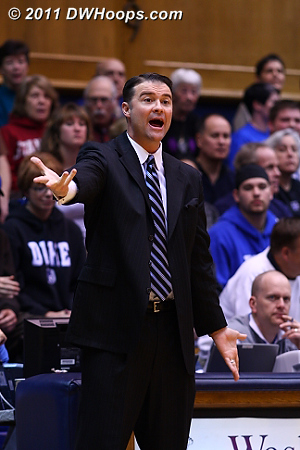 Kentucky Head Coach Matthew Mitchell looks for a call during the first half.