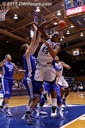Physical play in the lane as Kentucky's Carly Morrow rebuffs Karima Christmas