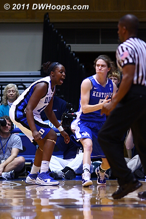 Chelsea Gray closely guards Carly Morrow.  - Duke Tags: #12 Chelsea Gray