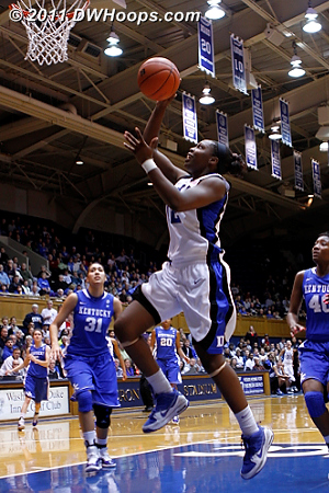 Gray's layup put Duke back in front, 18-17.  - Duke Tags: #12 Chelsea Gray
