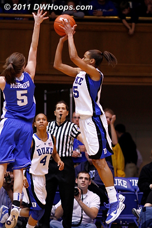 Jas puts Duke up seven  - Duke Tags: #5 Jasmine Thomas