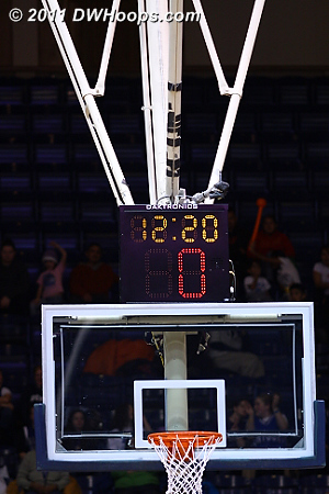 The foul came with no time left on the shot clock.