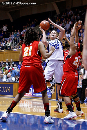 Liston threads the needle to put the Devils up 52-50.  - Duke Tags: #32 Tricia Liston