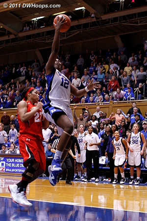 Chelsea Gray goes coast-to-coast and Duke leads 65-60.