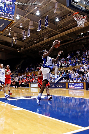 Chelsea makes it 69-62 Blue Devils with half a minute left.  - Duke Tags: #12 Chelsea Gray 