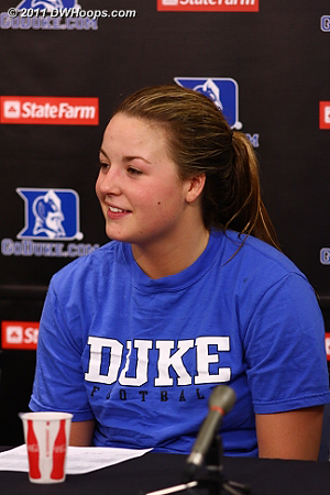 Tricia Liston had twelve points, all of them timely scores.  - Duke Tags: #32 Tricia Liston 