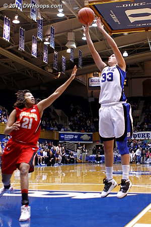Haley Peters started and scored Duke's first basket  - Duke Tags: #33 Haley Peters