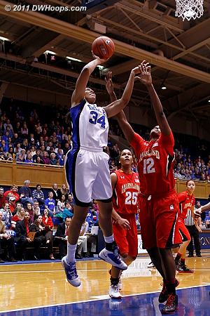 Krystal ties it at 27  - Duke Tags: #34 Krystal Thomas 