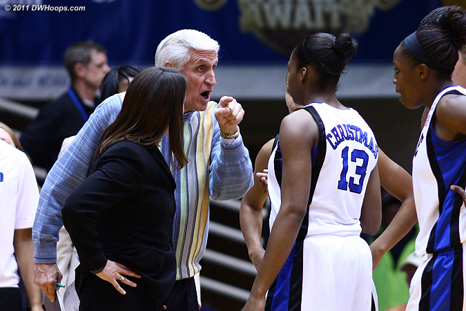 Assistant Al Brown has some heated instructions for Karima Christmas  - Duke Tags: Al Brown 