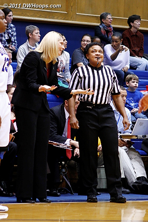 Coach Frese discusses a call with Bonita Spence