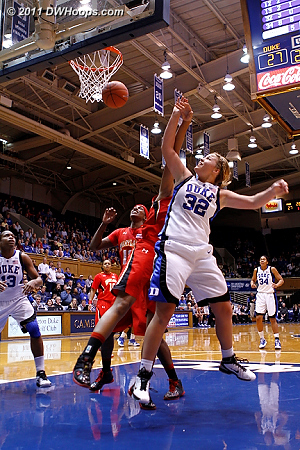 Liston fouled by Tchatchouang  - Duke Tags: #32 Tricia Liston