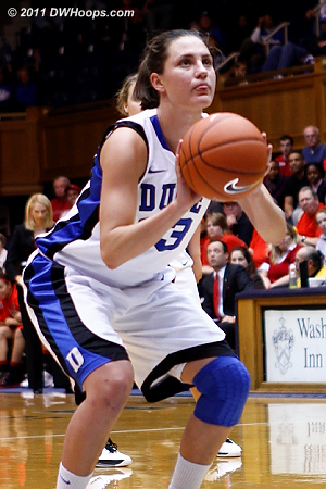 Haley on the stripe, pulling Duke to within one.  - Duke Tags: #33 Haley Peters