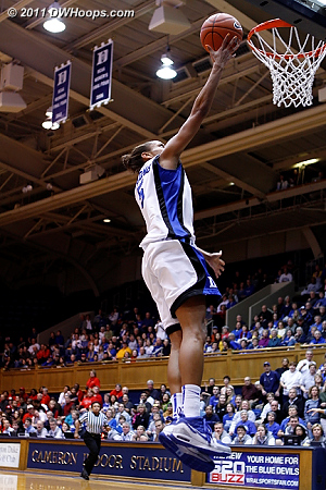 The Thomas layup puts Duke up 39-38, their first lead of the second half.  - Duke Tags: #5 Jasmine Thomas 