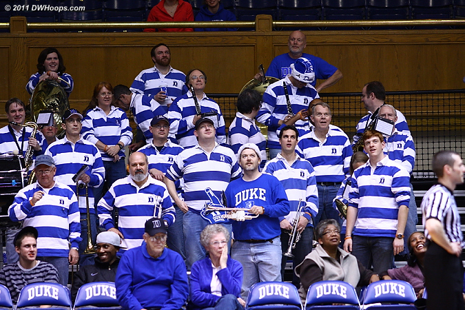 Hooray for the Duke Alumni Band - great job tonight!  - Duke Tags: Duke Pep Band