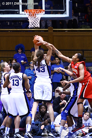 This was not a foul, but Duke did maintain possession.