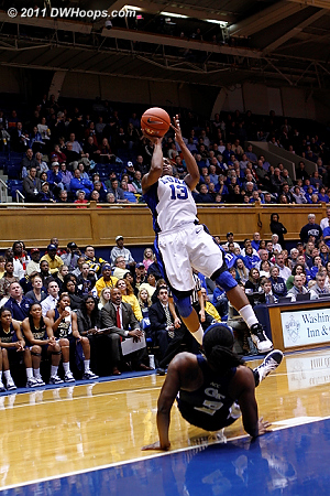 Karima Christmas put Duke in the lead with this fallaway.  - Duke Tags: #13 Karima Christmas