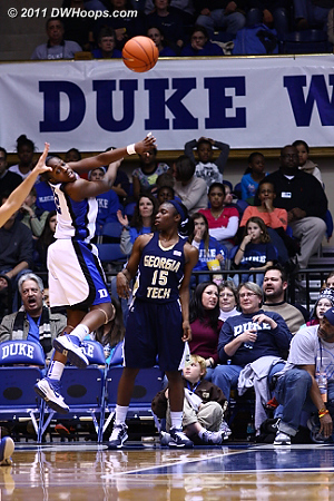 A five second call on the Jackets gives the ball back to Duke.  - Duke Tags: #12 Chelsea Gray