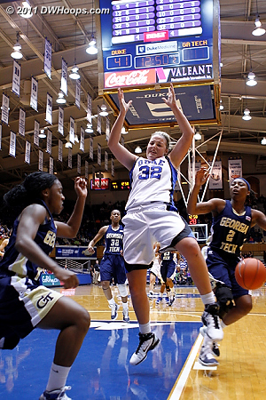 Walthour stripped Liston in the paint  - Duke Tags: #32 Tricia Liston