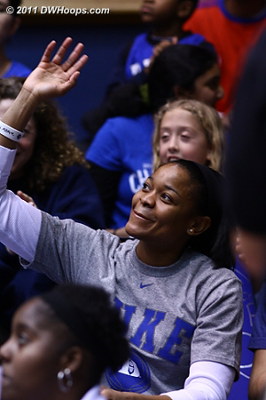 Alana Beard in the house!  - Duke Tags: Fans